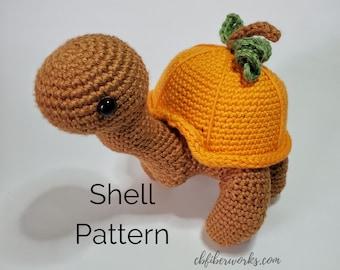 Sammie the Turtle Pumpkin Shell | Crochet Removable Shell Pattern