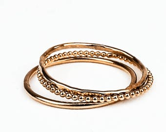 Alexia I – Stacking rings in silver, gold or gold
