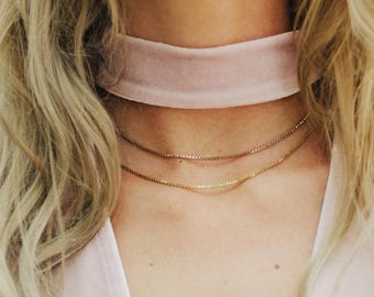 VENEZIA THIN - chain / / silver, gold or pink gold