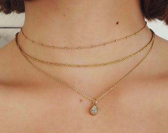 NIKITA - delicate gold necklace