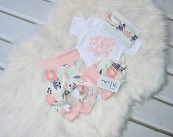 Little sister newborn outfit newborn outfit newborn girl coming home outfit, take home outfit girl, baby girl, take home outfit, hello world