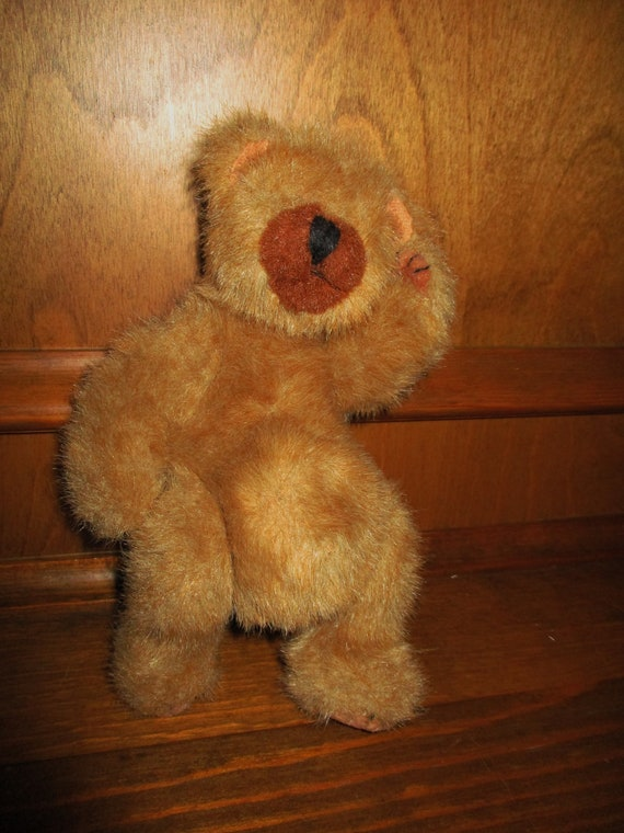 1993 Ty Handmade Jointed Pot Belly Bear Fuzzy Plush Toy Etsy