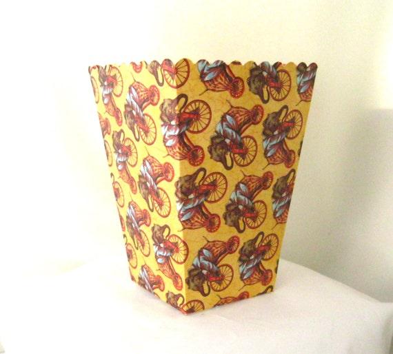 10 Circus Popcorn Box Treat Box Party Goodies Circus Theme Etsy