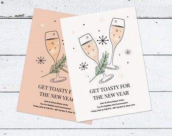 editable new years invitation templates holiday party templates printable christmas card digital new years card