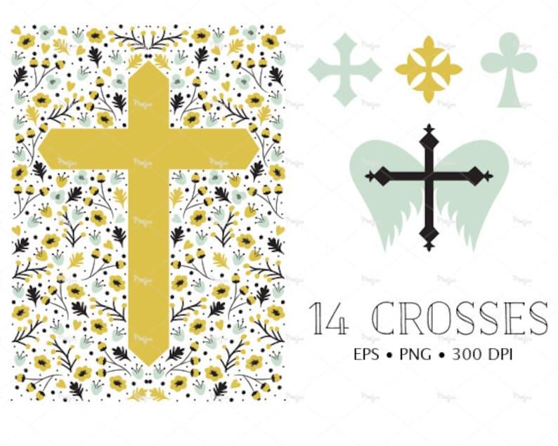 22e08b1b8036b8 14 Kreuze Clipart     Digital Download     Kreuze Design