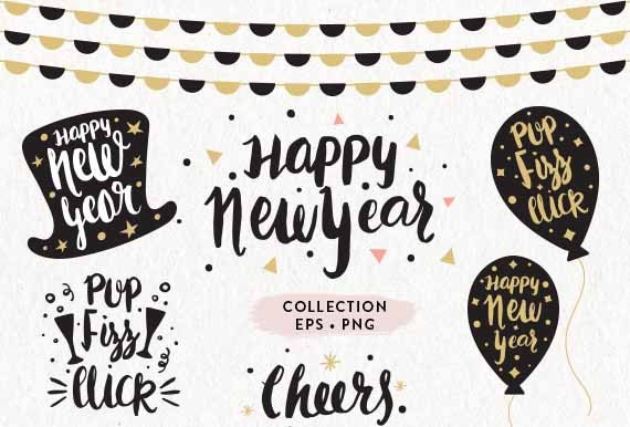 Happy New Year Lettering 77
