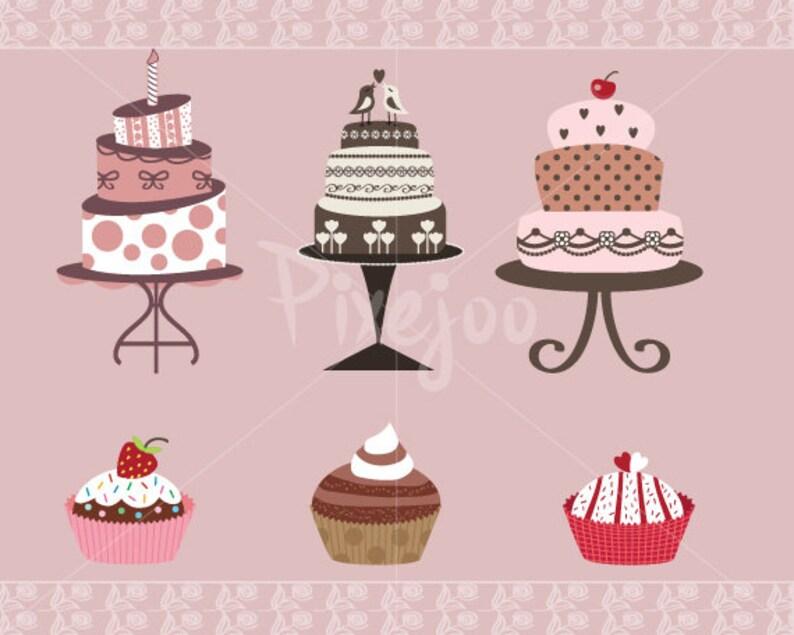 2ab4f433d Lindos pasteles para imprimir y Clipart de Cupcakes-torta