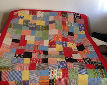 Handmade Quilt of Many Colors