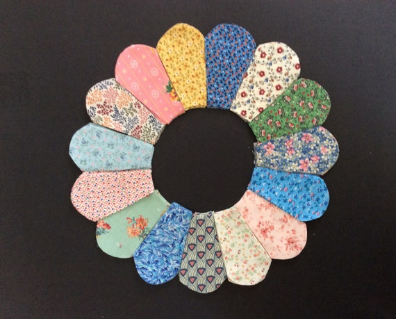 MAKES 8 SETS 3 INCH SIZE 106 DRESDEN PLATE TEMPLATES FOR PATCHWORK