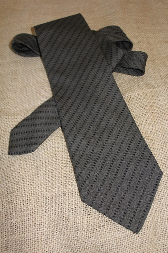 GIORGIO ARMANI CRAVATTE Silk Blnd Necktie Tie Brown Neutral