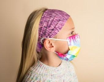 Savior Bands Kids - Child Headbands With Buttons Holder For Face Kids Mask (hospital, work, store, gym. etc.)