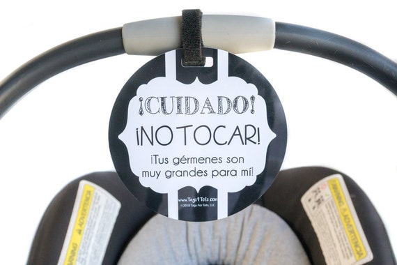 Baby Safety Sign No Touching Tag Newborn Baby Preemie Stroller Tag Baby Car Seat