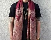 NEW Spiral Series Festival Shawl Scarf Crimson Gold Tan Unisex