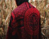 NEW DREAM AWAKE Crimson Variant Reversible Festival Shawl Scarf