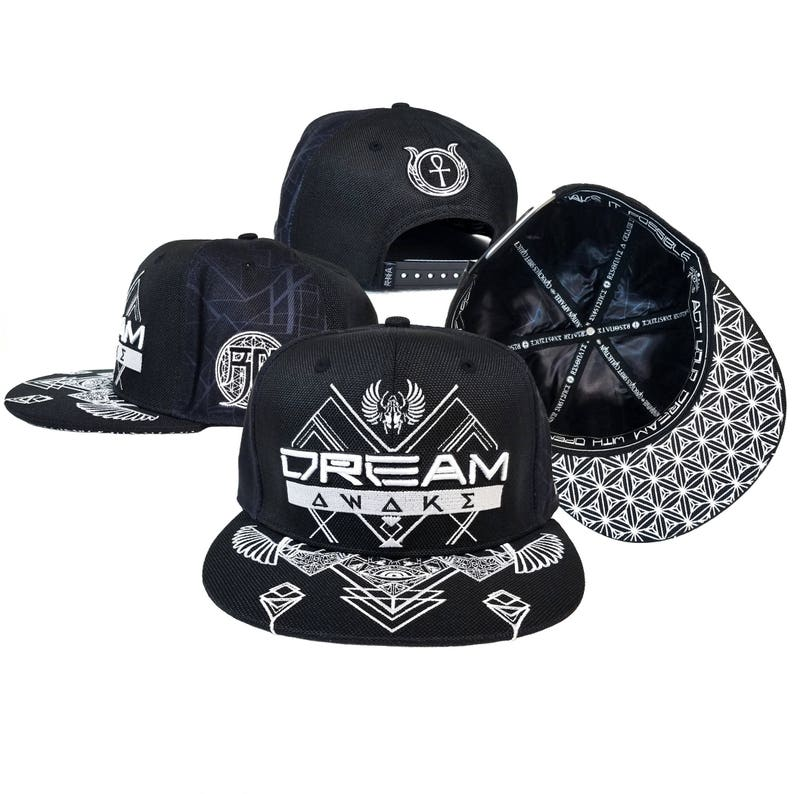 c271f3e139920 DREAM AWAKE ϾRØШN    Snapback Hat w  Interior Pocket    scarab