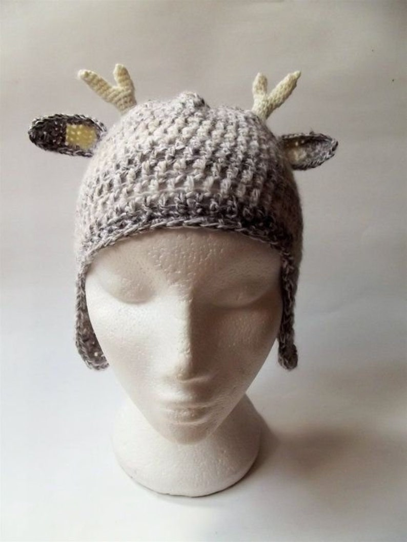 1a8c1bccc1e Crochet deer hat reindeer hat sizes baby to adult woodland