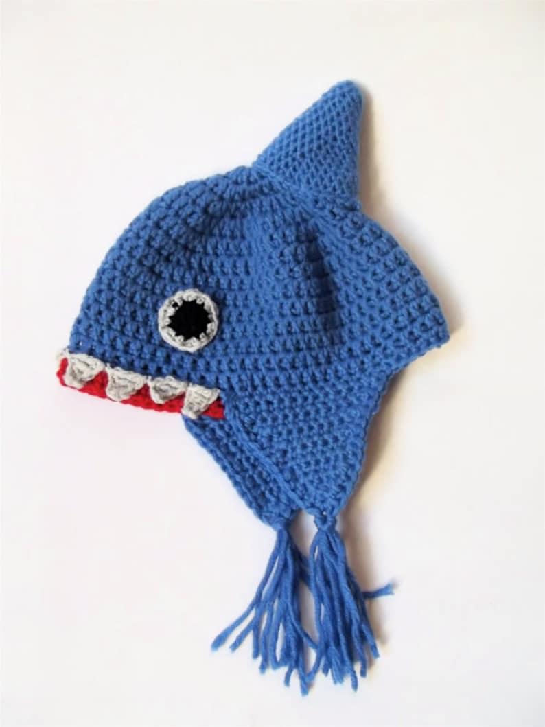 Crochet shark hat baby shark hat wool shark hat newborn  84baf09749c6