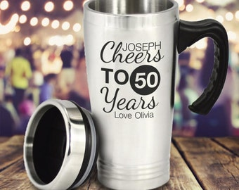 Personalised Stainless Steel Birthday Travel Mug - All Age