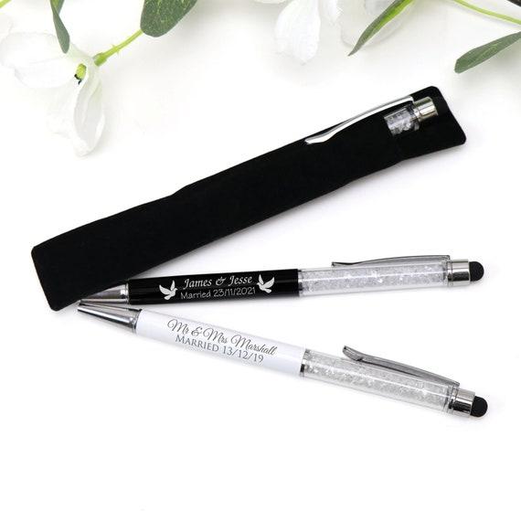 Wedding Bomboniere Stylish Wedding Favour Gift Metal Pen Custom Engraved
