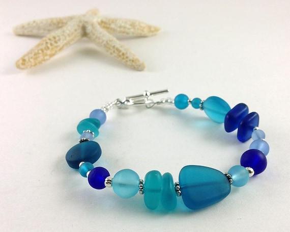 blue jewelry,jewelry handmade jewelry seaglass beaded jewelry bracelet seaglass jewelry glass cobalt Larimar bracelet
