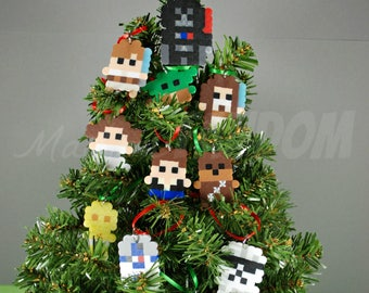 star wars christmas ornaments set of 12 mini ornaments star wars gift toppers star wars ornaments mini tree ornament exchange