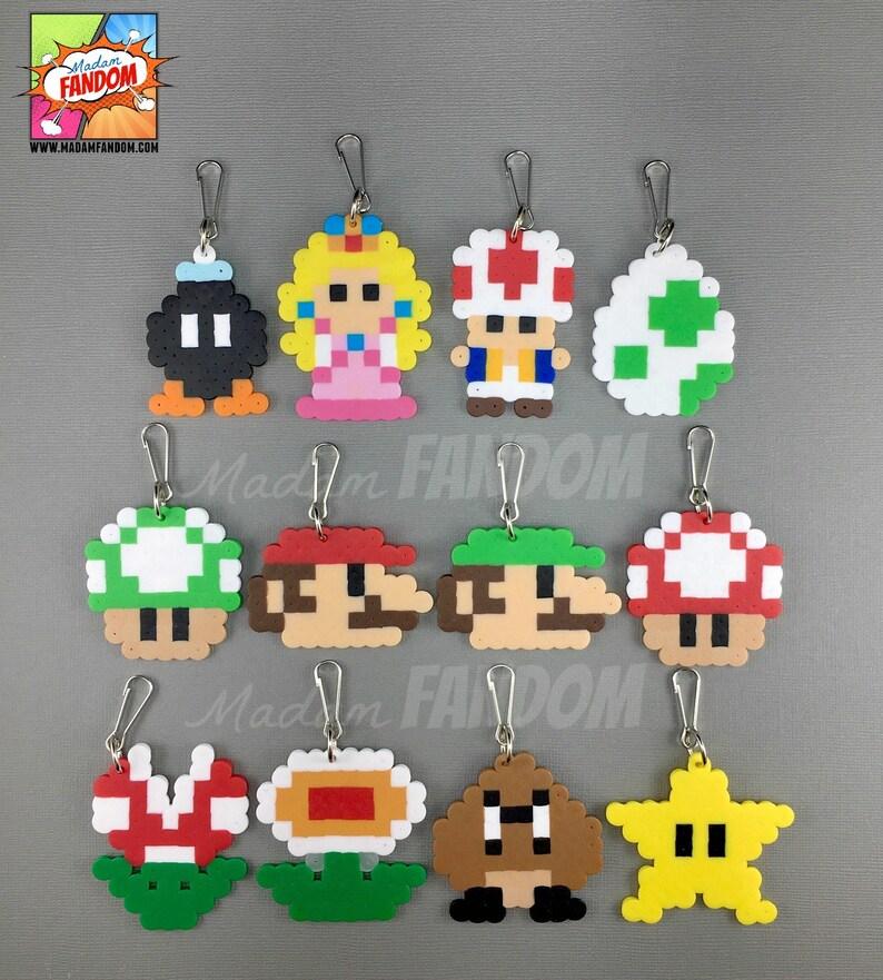 12 Super Mario Party Favors Zipper Pulls  Super Mario image 0