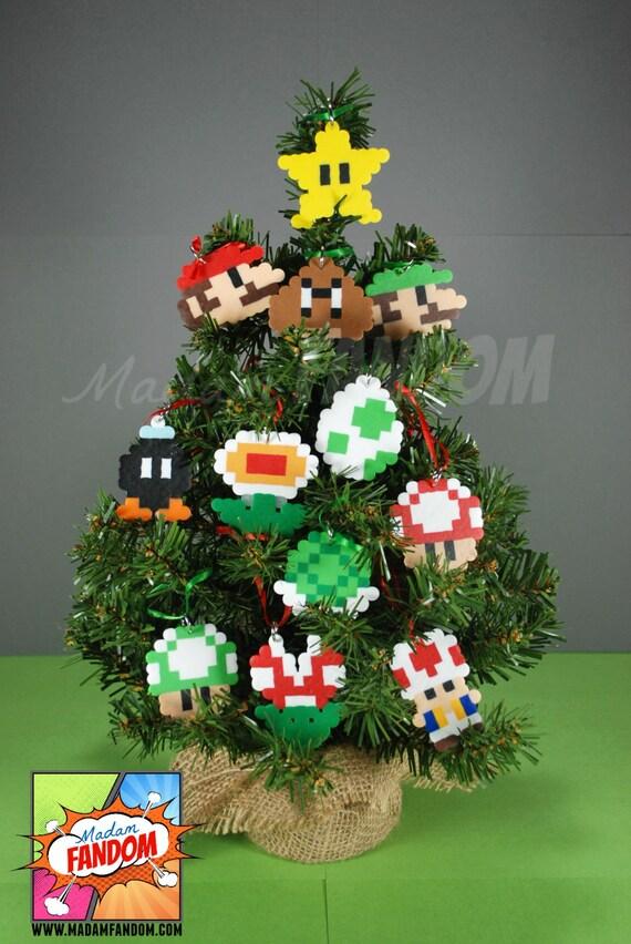 image 0 - Super Mario Christmas Ornaments Set Of 12 Super Mario Etsy