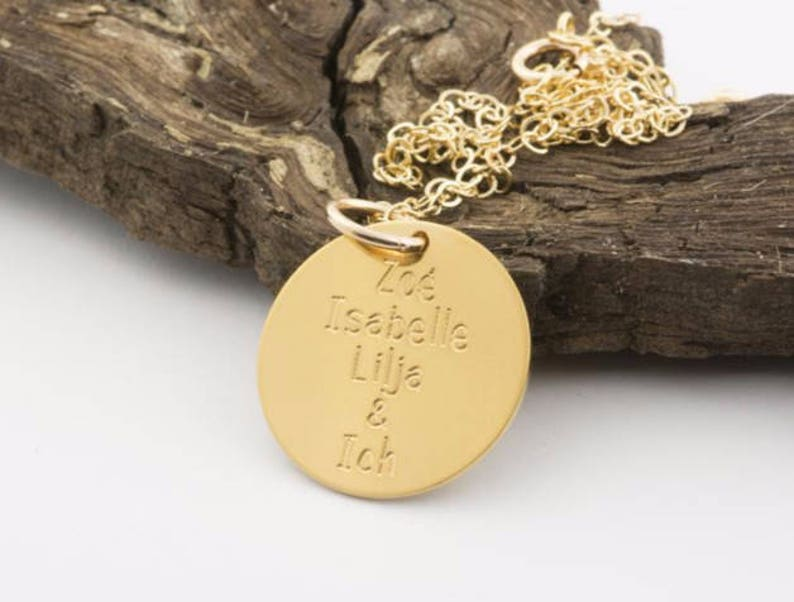 Koordinaten Schwester Geschenk f\u00fcr beste Freundin Goldkette mit pers\u00f6nlicher Wunschgravur 24Kt925-Silber handgearbeitet Initialen