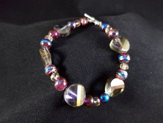 925 silver bracelet P9718 faceted beads
