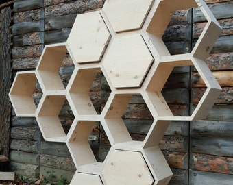 Shelving Unit Honeycomb Shelving Bookcase Retail Display