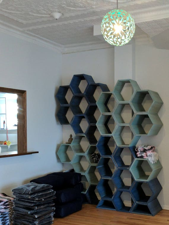Hexagon Shelves Honeycomb Shelves Retail Display Wall Art