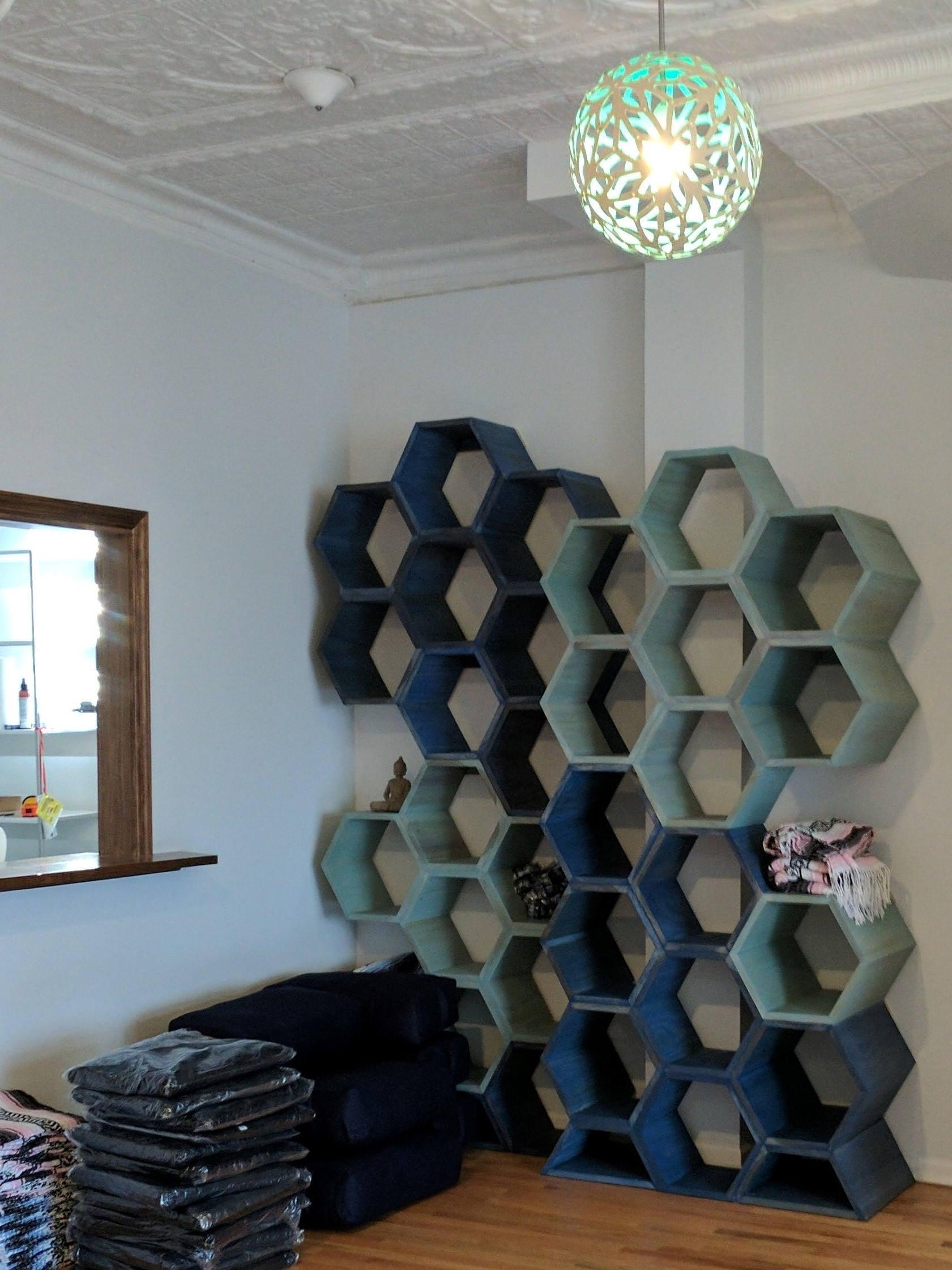Hexagon Shelves Honeycomb Shelves Retail Display Wall Art