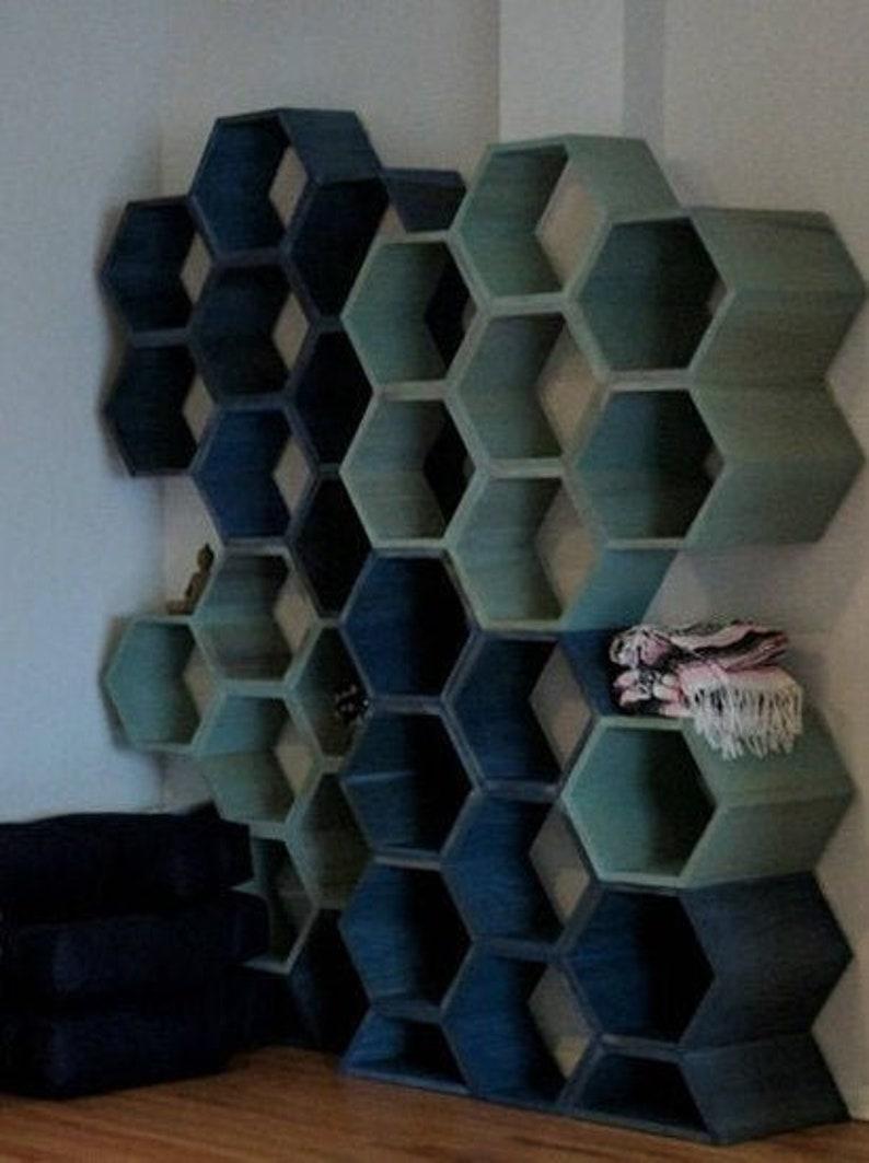 Custom shelving unit  honeycomb shelves retail display image 0