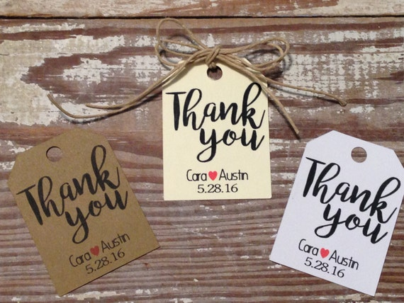 Thank You Favor Tags Personalized Tags Wedding Favor Tags Etsy