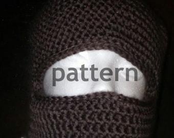 Double thick crochet balaclava pattern, balaclava pattern, crochet pattern, ski mask pattern, PDF pattern, winter hat pattern