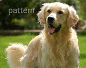 golden retriever cross stitch pattern, dog cross stitch, counted cross stitch, pattern keeper, pdf pattern, modern cross stitch