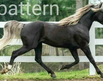 Rocky mountain horse cross stitch pattern. counted cross stitch, pattern keeper, horse cross stitch, pdf pattern, brown horse pattern