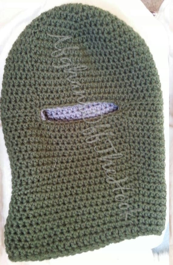 Double Thick Crochet Balaclava Pattern Balaclava Pattern Etsy