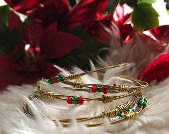 CLOSEOUT! Christmas Guitar String Bangle