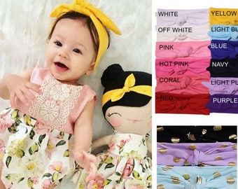 baby girl headband - baby bows - Toddler Headband for girls - baby headband - toddler headwrap - newborn headbands - toddler turban - CH01