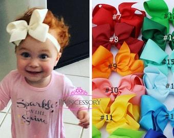baby girl headband - baby bows -  baby headband - baby hair bows -  Baby Headband Set - hair bows for babies - baby gift - newborn HF21