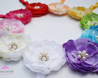 Flower Headband - Baby Headband - baby girl headband - infant headbands - newborn headband baby girl - YOU PICK 3 HF19