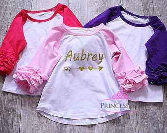 raglan shirt - icing ruffle raglan - ruffle tops - girls ruffle shirts - ruffle raglan - baby raglan - icing raglan - baby girl raglan