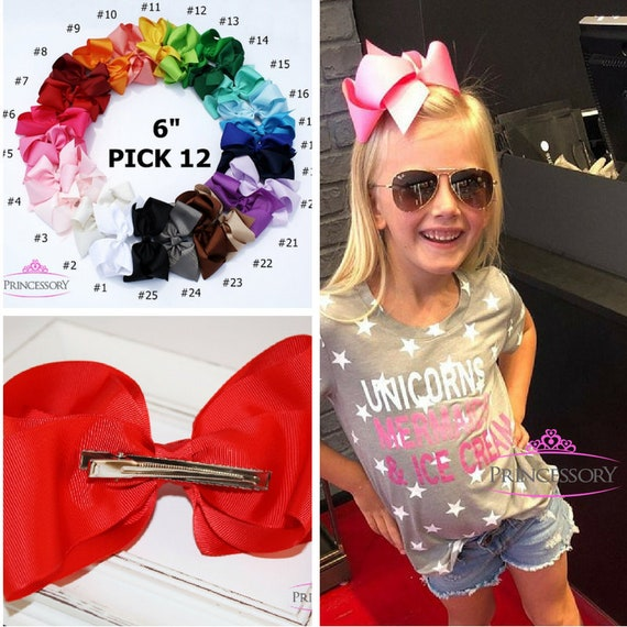 10-2  Hair Bows Boutique Girls Baby Toddler Alligator Clip Grosgrain Ribbon Kleidung, Schuhe & Accessoires Accessoires