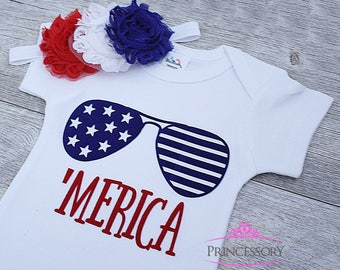 4th of july outfit - 4th of july baby - baby girl outfit - baby girl clothes - independence day - red white and blue - fourth of july - 1st