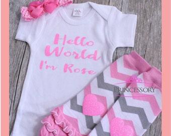 bébé fille à venir équiper la maison - nouveau-né bébé fille Outfit - tenue taille naissance bébé fille à venir maison - nouveau cadeau de bébé - prendre maison tenue