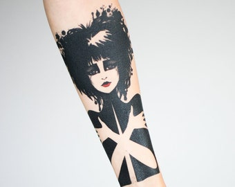 Siouxsie Sioux Temporary Tattoo by Leilani Joy