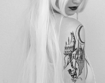 Magic Castle Linework Tattoo