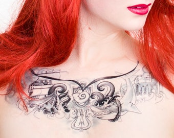 The Little Mermaid Chest Piece Tattoo