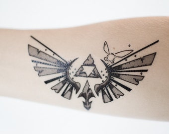 Small Zelda Temporary Tattoo